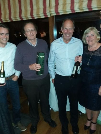 First place team - Ivan O'Callaghan (represented by Colm), Henry Jones, Liam Delaney and Marie O'Reilly