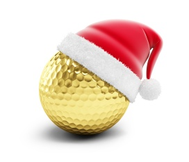 gold golf ball sant hat on a white background 3d Illustrations
